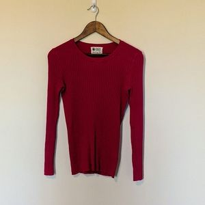 Onze Montreal Bleury pink rib sweater size L